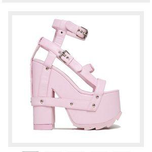 YRU Night Call Pink Platforms